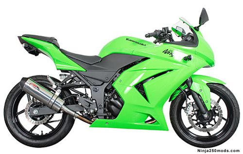 ninja 250r exhaust - ninja 250 mods, parts, and accessories