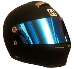 HJC-SI12-Helmet-Rubbertone-Black-with-Blue-Shield