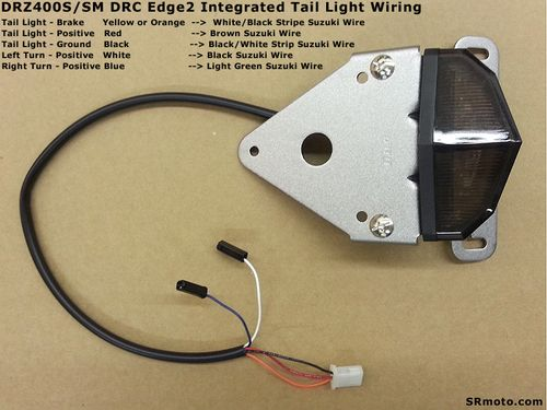 SRmoto-2008-DRZ400SM-Edge-Integrated-Tail-Light-Top-View