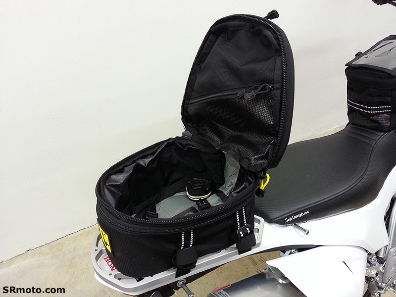 Honda-CRF250L-With-Wolfman-Peak-Tail-Bag-Open