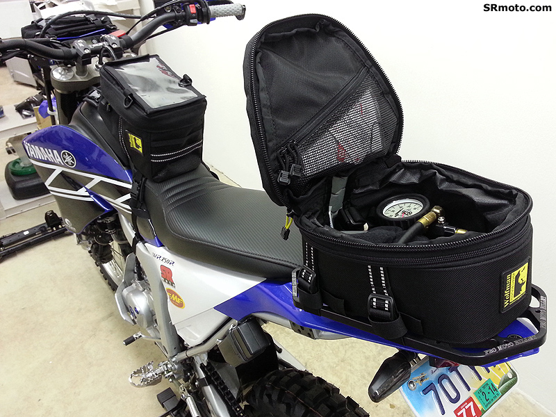 Yamaha-WR250R-With-Wolfman-Peak-Tail-Bag-Open
