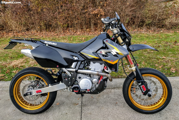 mrd z pro exhaust systems now available for the drz400sm. Black Bedroom Furniture Sets. Home Design Ideas