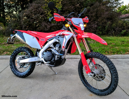 CRF450L-Handguards-Zeta-PRO-Armor-Red-on-bike